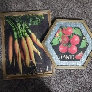 Set of Two Vegetable Prints Country Kitchen
